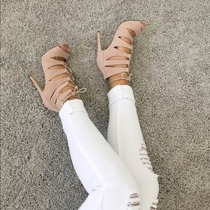 Shoes - Guilty soles lace up heels